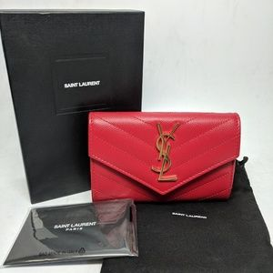 Saint Laurent Bags - Saint Laurent Red Envelope Small Wallet